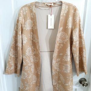 Solitaire Kimono Duster Open Pocket Cardigan Sz S